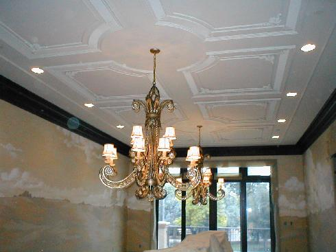 Recently Completed Italianate Dining Room Ceiling